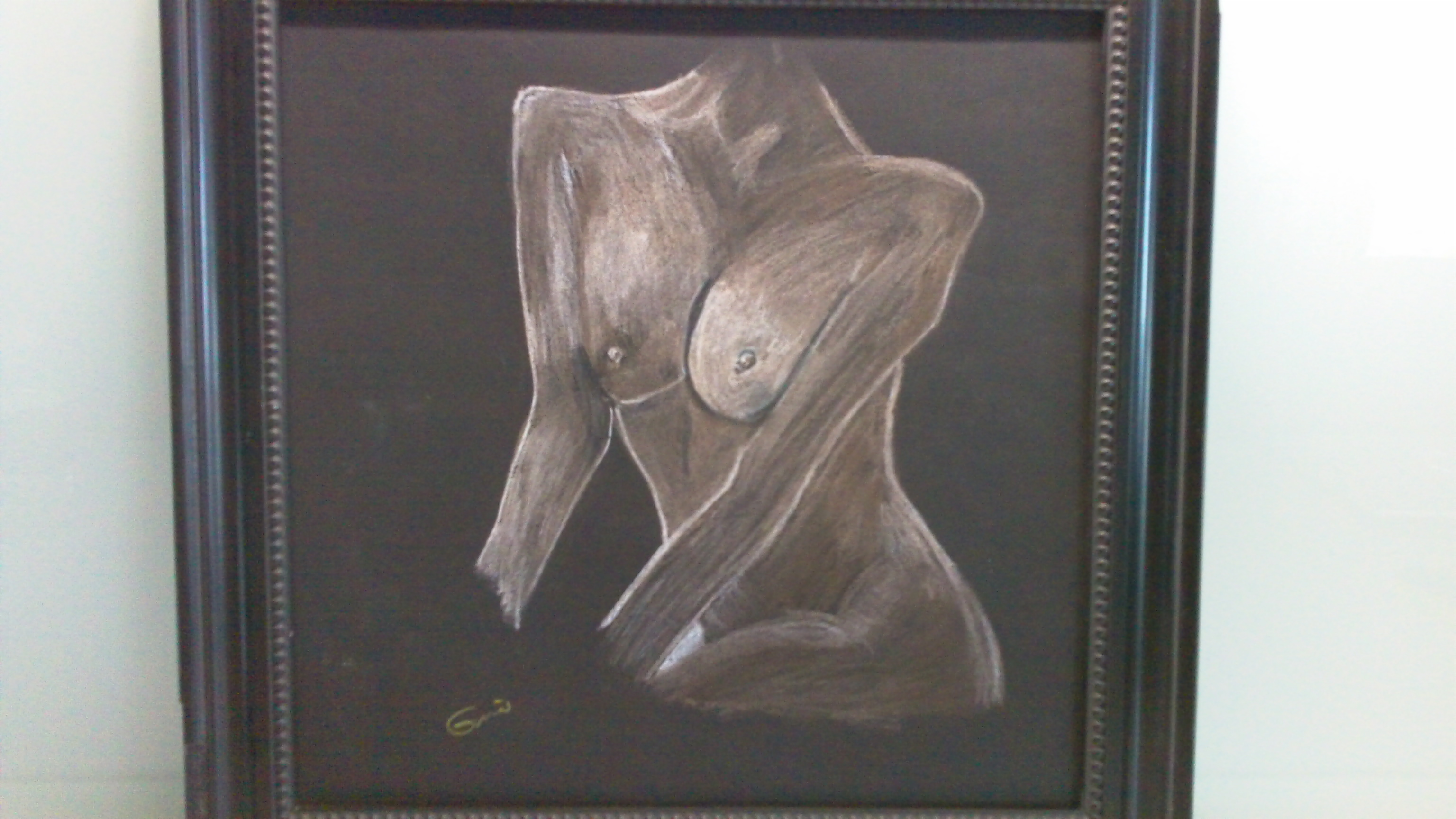 """Sandy Breasts""  $ 225 Original signed Chalk"